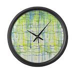 Electric Rain Abstract Large Wall Clock