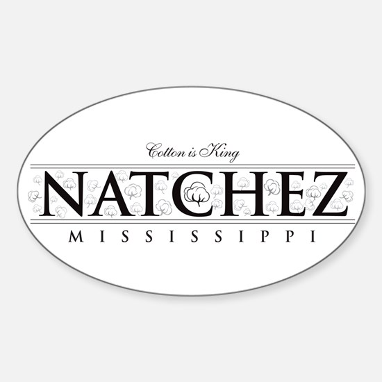 Natchez, Mississippi ~ Cotton Is King Decal
