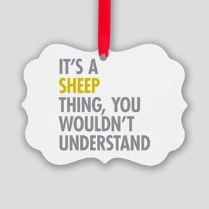 Its A Sheep Thing Picture Ornament