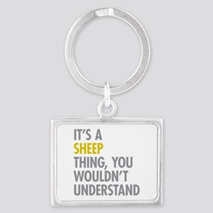 Its A Sheep Thing Landscape Keychain