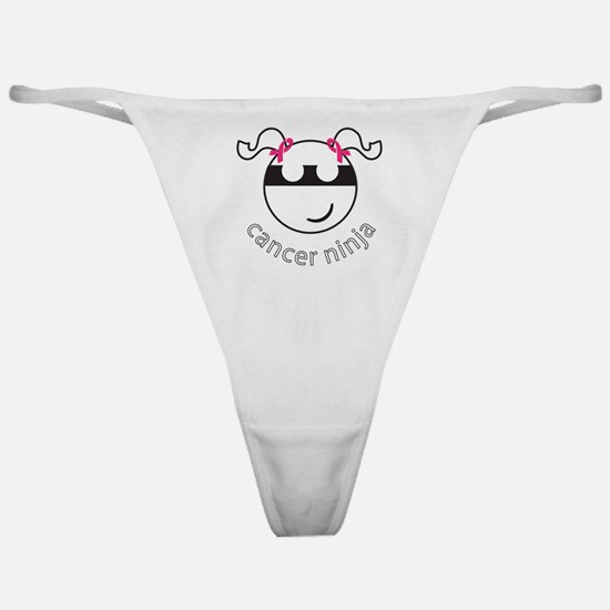Breast Cancer Ninja - PigTails Classic Thong