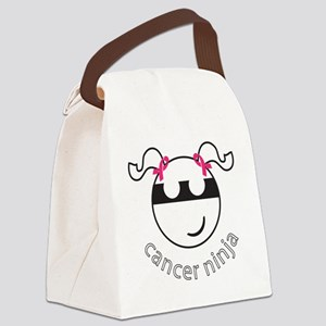 Breast Cancer Ninja - PigTails Canvas Lunch Bag