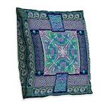 Celtic Atlantis Opal Burlap Throw Pillow