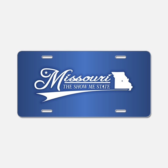 Missouri State of Mine Aluminum License Plate