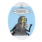 Radioactive Spider Bite Ornament (Oval)