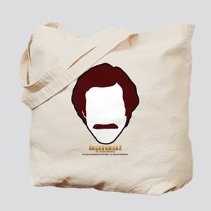 Ron Burgundy Face Tote Bag