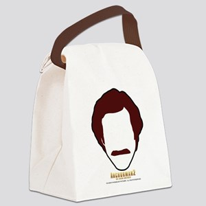 Ron Burgundy Face Canvas Lunch Bag