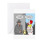 Aardvark Clown Dog Greeting Cards