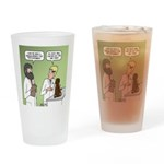 Snowman of the Apes Drinking Glass