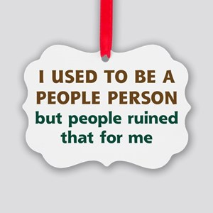 People Person Humor Picture Ornament