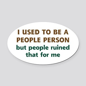 People Person Humor Oval Car Magnet