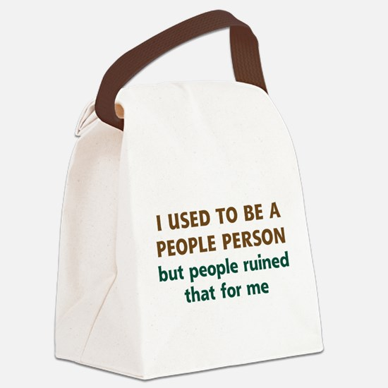 People Person Humor Canvas Lunch Bag