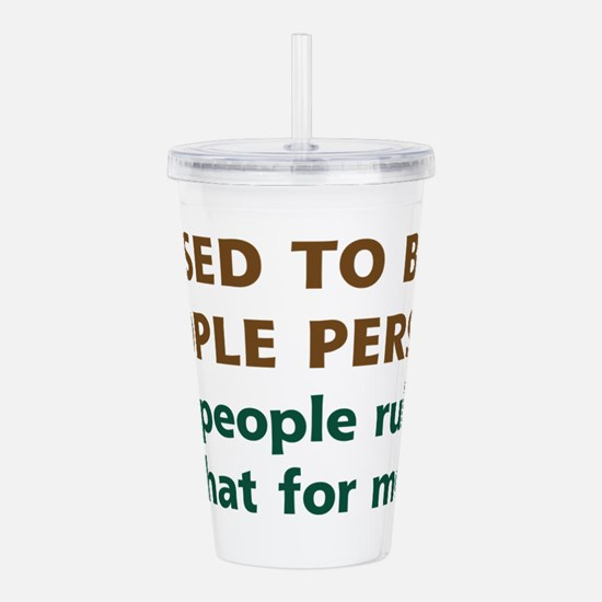 People Person Humor Acrylic Double-wall Tumbler