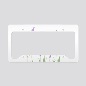 Lilac Flowers License Plate Holder