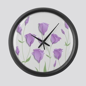 Lilac Flowers Large Wall Clock