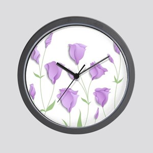 Lilac Flowers Wall Clock