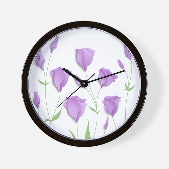 Lilac Flowers Wall Clock