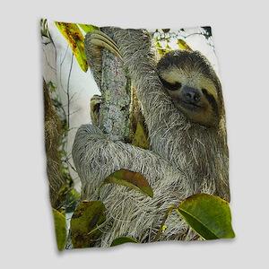 Sloth Burlap Throw Pillow