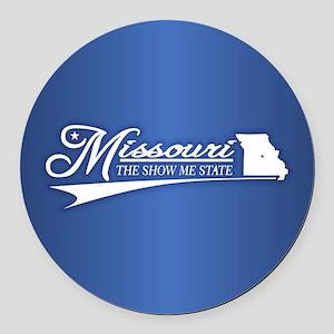 Missouri State of Mine Round Car Magnet