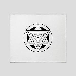 Merkabah Star Tetrahedron Throw Blanket