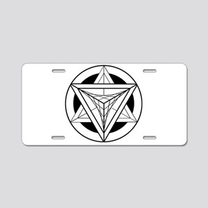 Merkabah Star Tetrahedron Aluminum License Plate
