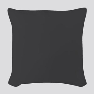 Gray Solid Color Woven Throw Pillow