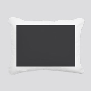Gray Solid Color Rectangular Canvas Pillow