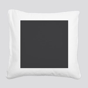 Gray Solid Color Square Canvas Pillow