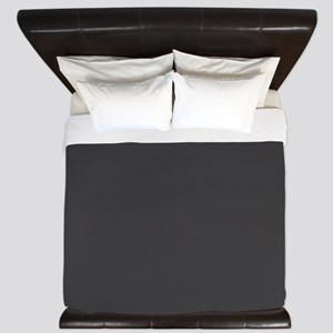 Gray Solid Color King Duvet
