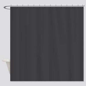 Gray Solid Color Shower Curtain