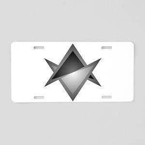 Unicursal Hexagram Chevron Aluminum License Plate