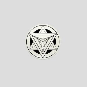 Merkabah Star Tetrahedron Mini Button