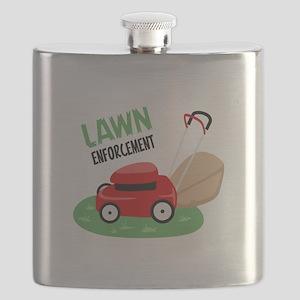 Lawn Enforcement Flask
