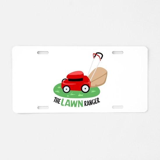 The Lawn Ranger Aluminum License Plate