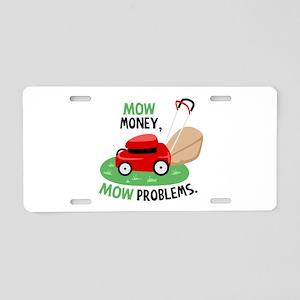 Mow Money Aluminum License Plate