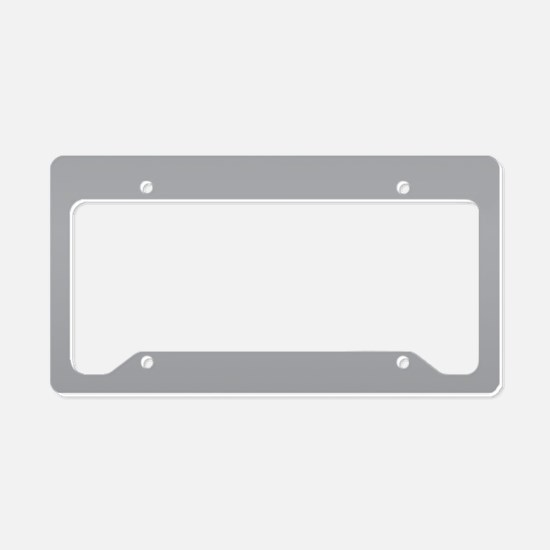 Light Gray Solid Color License Plate Holder