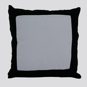 Light Gray Solid Color Throw Pillow