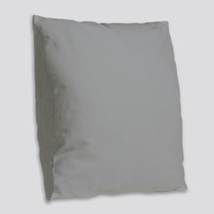 Light Gray Solid Color Burlap Throw Pillow