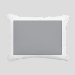 Light Gray Solid Color Rectangular Canvas Pillow