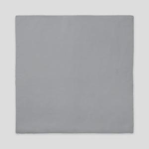 Light Gray Solid Color Queen Duvet