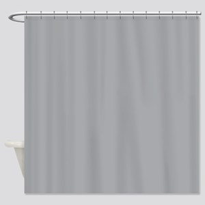 Light Gray Solid Color Shower Curtain