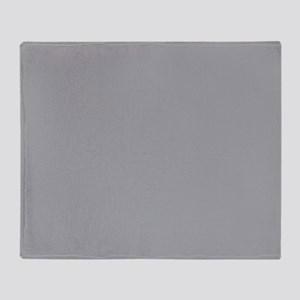 Light Gray Solid Color Throw Blanket