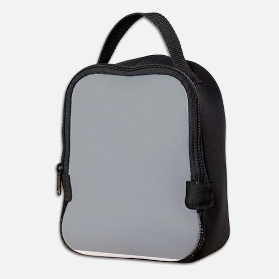 Light Gray Solid Color Neoprene Lunch Bag