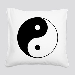 Classic YinYang Square Canvas Pillow
