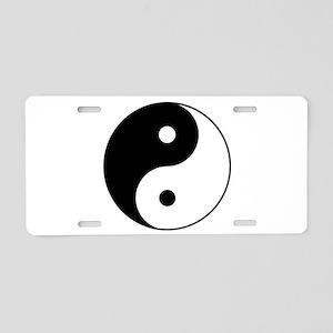 Classic YinYang Aluminum License Plate