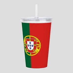 Portugal Flag Acrylic Double-wall Tumbler