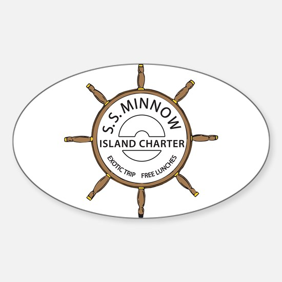 SS Minnow Oval Decal