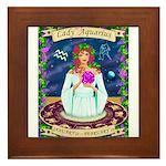 Lady Aquarius Framed Tile