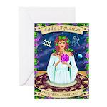Lady Aquarius Greeting Cards (Pk of 10)