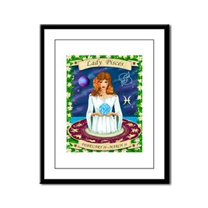 Lady Pisces Framed Panel Print
